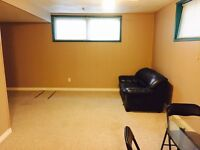 $750 One bedroom basement suite available immediately