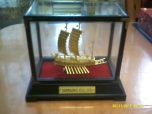 ''KEO BUG SEON'' 24K gold plated replica ship (1592)
