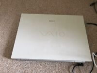 Sony Vaio laptop, charger and bag