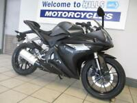 YAMAHA YZF R125 ABS MINOR DAMAGE LOW MILES 66 PLATE CAT N TRADE SALE BARGAIN