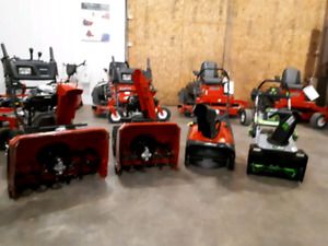 Ego and Jonsered snowblowers