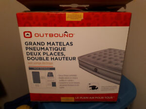 Outbound Double High Queen Air Mattress with Pump