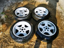 4x BBS DELTAS 5x114 17x9.5 ET17 Alloy Wheels