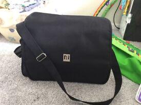 Ryco baby changing bag black shoulder