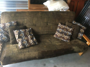 Wooden framed futon in good condition