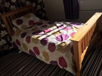 Single bed and orthopaedic mattress for sale