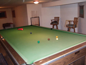 6ft. x 12ft. billiard table with accessories