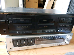 Genexxa cassette deck and fisher am/fm stereo reciever
