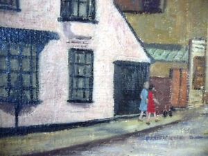 "British Original Painting by O. Nail ""High Street in Epsom"" 1959 Stratford Kitchener Area image 3"