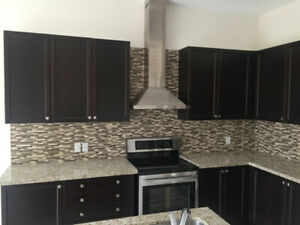 Kitchen Cabinet - Whole Set with Island and Marble Countertop