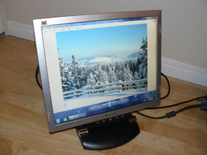 """LCD 17"""" Flatscreen Monitor - Works great, cables included!"""