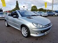 2003 PEUGEOT 206 2.0 COUPE CABRIOLET SE 2D 135 BHP! CONVERTIBLE! FULL LEATHER!