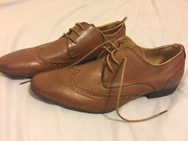 NEW Mens New Look Brown Formal Shoes/Brogues - Size 9