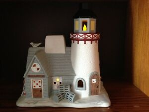 Partylite candle holder STONEY HARBOR LIGHTHOUSE