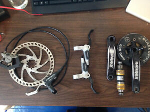 Hayes, Raceface, and Shimano Components