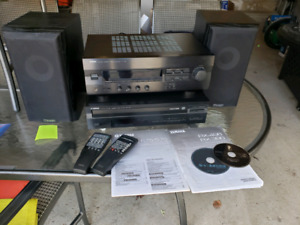 Yamaha receiver and CD Player plus two mission speakers
