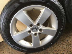 Winter tires on Honda alloys rims 205/55/16