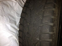 4 ALMOST NEW WINTER TIRES ON RIMS