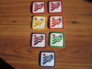 1980's Swimming Course Badges