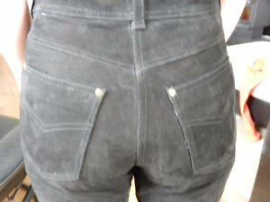 GORGEOUS SUEDE MOTORCYCLE JEANS ? EURO 36