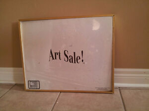 Art Sale framed sign with glass front decorative hanging London Ontario image 3