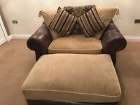 Sofa chair and foot rest