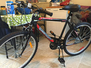 Almost new bike with halmet