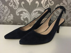 Greenwich Village Blue Suede Shoes Brand New $35 size 5