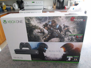 NEW XBOX ONE S SPECIAL EDITION HALO+GEARS BUNDLE