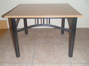 Small  wooden square table
