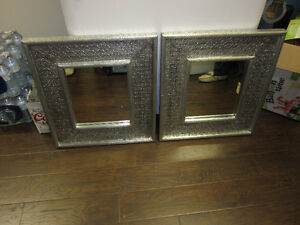 SILVER FRAMED DECORE MIRRORS
