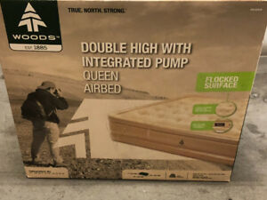 Woods Double High with Integrated Pump Air Mattress - Queen Size