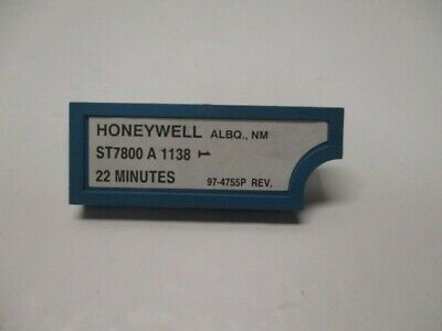 Honeywell St7800a1138 Timer Moudle 22 Minutes Used
