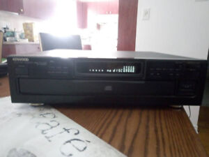 Kenwood double deck stereo receiver compact disc player set