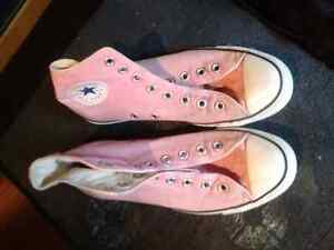 Pink Converse. Have laces for them.
