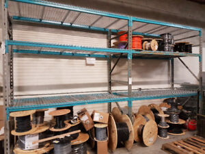 "Shelving heavy duty / shop storage 10' height x44"" depth"