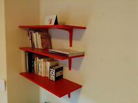 IKEA 3 étagères rouge - 3 Red Shelves
