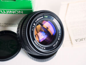 X-FUJINON F1.6!!! 50mm DM manual lens mint condition