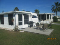Florida trailer with large Florida room