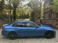 17 BMW 320d M SPORT DIESEL AUTO 46,198 MILES M PERFORMANCE ESTORIL BLUE STUNNING