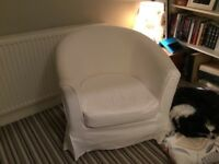 Very good condition White IKEA Tulsta Armchair
