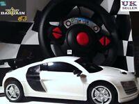 R8 Audi Like Radio Remote Control Car Rc Car New White Sports christmas gift