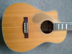 "Fender California Malibu Acoustic/ Electric Guitar ""left handed"""