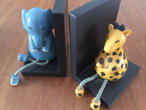 Solid Wood Animal Bookends