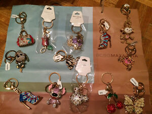Gorgeous key chains - all brand new!