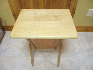 Solid Wood Serving Tables and Storage Rack