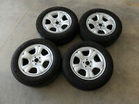 Subaru rims with tires