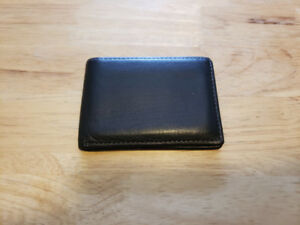 Black Brown 1826 Slim Leather Passcase Wallet