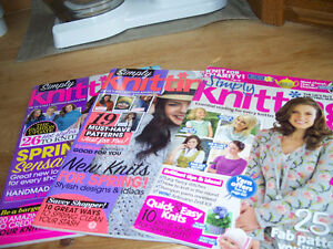 17 KNITTING MAGAZINES..SIMPLY KNITTING, LETS KNIT, KNIT SIMPLE