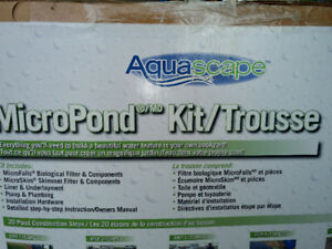 Brand new Aqua pond kit in a box with all it's parts.